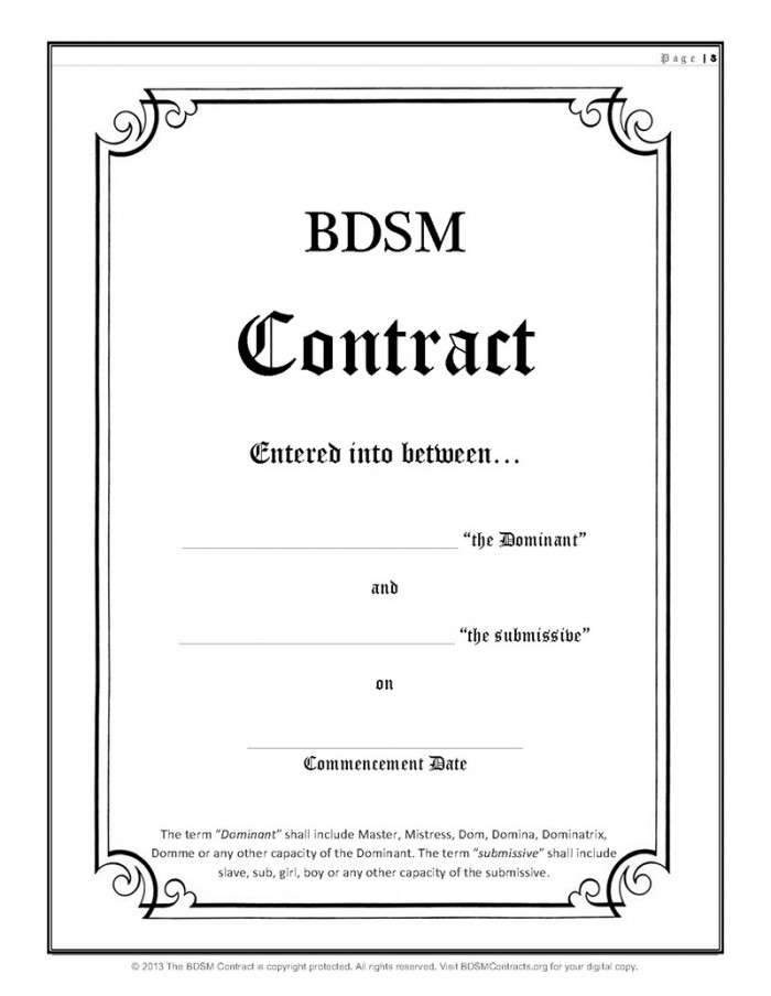 BDSM Contracts