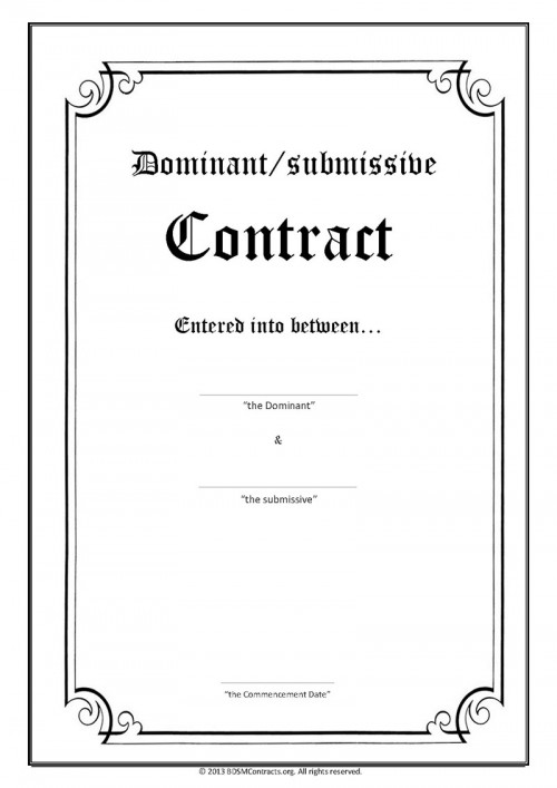 contract service Bdsm personal