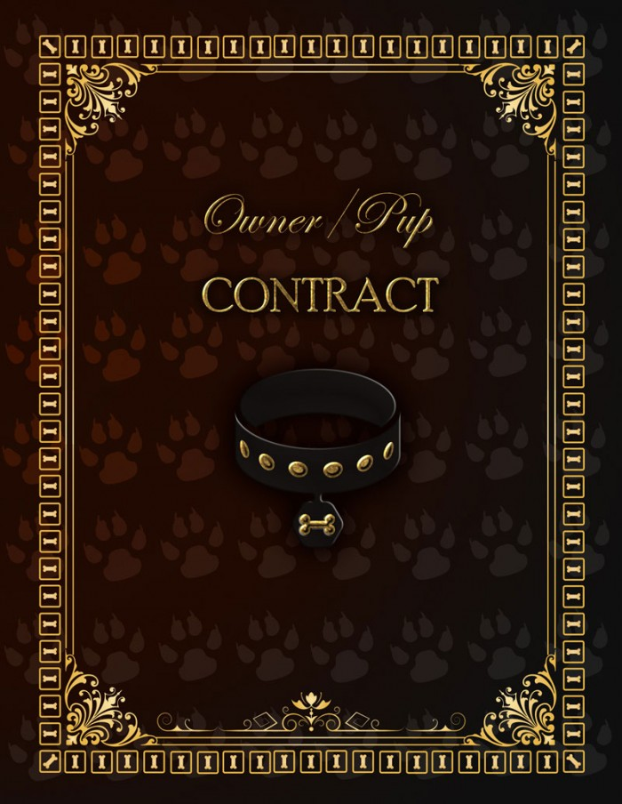 BDSM Pup Play Contract Hard Cover